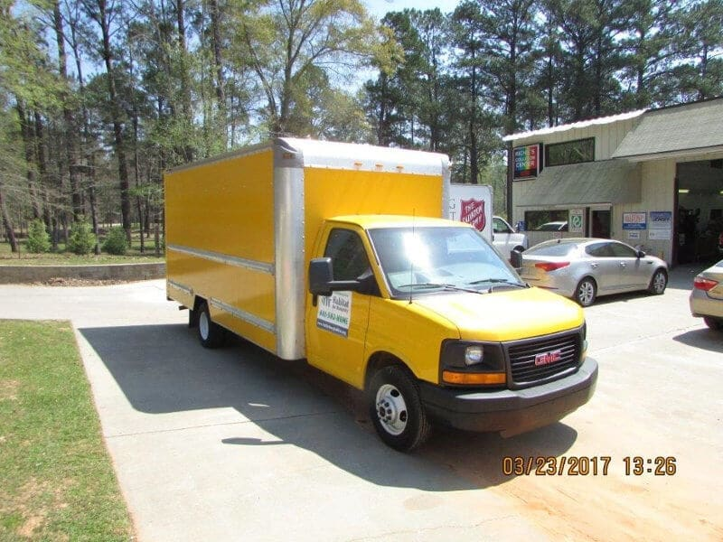 Painted GMC Box Truck - Front View
